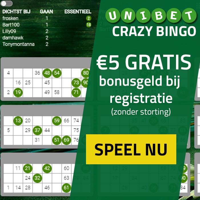 crazy bingo mobiel