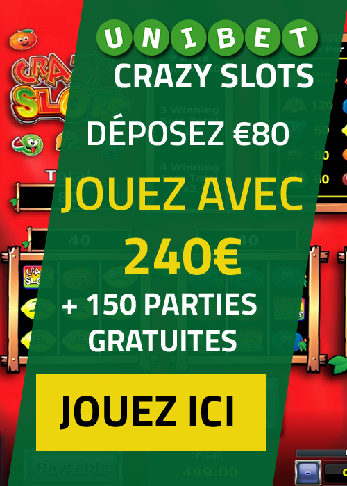 Crazy Slots Belgique Mobile