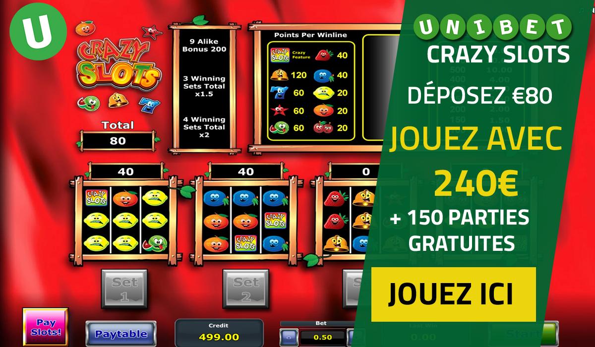 Crazy Slots Belgique