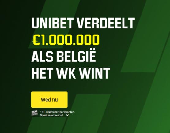 1 miljoen Euro als België het WK wint
