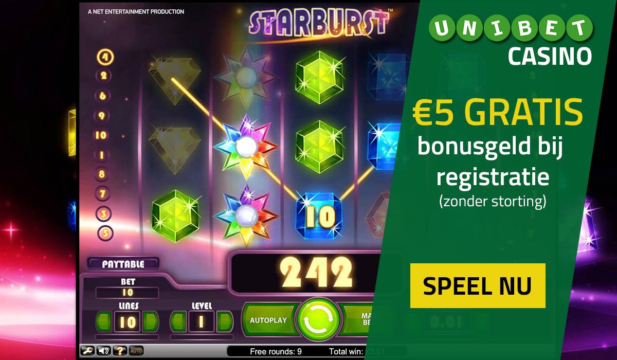 Online casino België met gratis startgeld